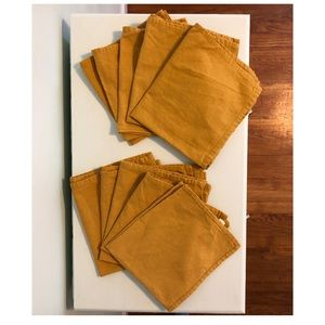 Other - Set of Ten Cotton Linen Napkins in Goldenrod